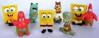 SpongeBob SquarePants Sponge Bob Mini Figures Toy Set of 8pc