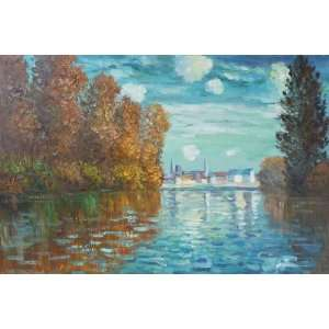 Autumn at Argenteuil   Large 24 X 36   Hand Painted Canvas Art Home