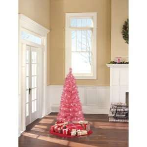 Holiday Time Pre Lit 3.5 Foot Franklin Pink Tree