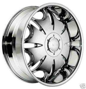 20 22 CHROME CENTER CAP RIMS WHEELS XON PHANTOM 073
