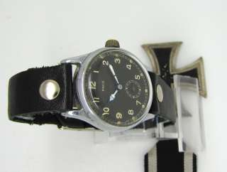 Vintage Military WWII PAGE German Army Service Wristwatch