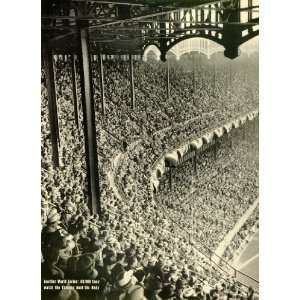 1939 Print Game Oct. 4 New Yorks Yankee Stadium Baseball Cincinnati
