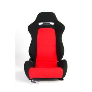 Cipher Auto Red and Black Cloth Universal Racing Seats