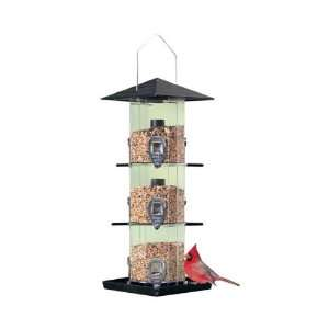Perky Pet Deluxe Grandview Wild Bird Feeder, 3 Independent Seed