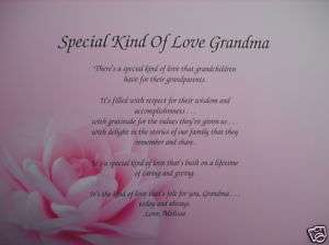KIND OF LOVE GRANDMA POEM PERSONALIZED GIFTS BIRTHDAY, CHRISTMAS, ETC