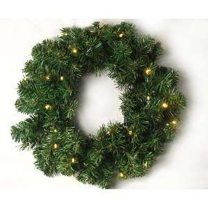 18 Pre Lit LED Battery Operated Artificial Christmas Wreath
