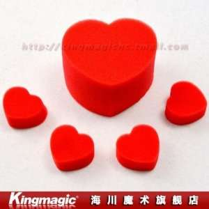 by cpam sponge heart/magic heart/magic props/magic tricks