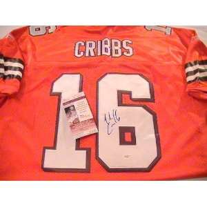 JOSH CRIBBS SIGNED AUTOGRAPHED JERSEY CLEVELAND BROWNS COA