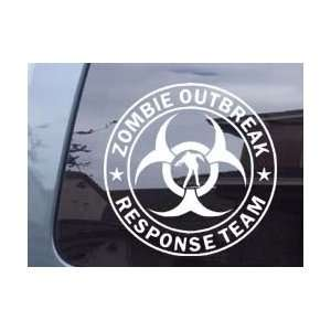 Zombie Outbreak Response Team With Zombie Car Laptop Vinyl Decal