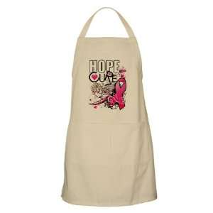 Apron Khaki Cancer Hope for a Cure   Pink Ribbon