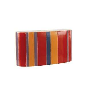 Amare Short Red Striped Vase