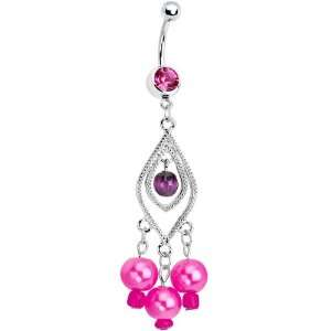 Pink Gem Anastasia Chandelier Belly Ring Jewelry