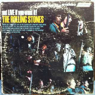 THE ROLLING STONES got live if you want it LP VG PS 493 Vinyl 1966