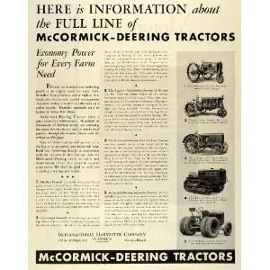Farm Tractors Equipment Models   Original Print Ad