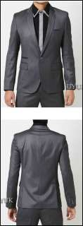 Mens Fashion Stylish Slim Fit One Button Quality Formal Suit