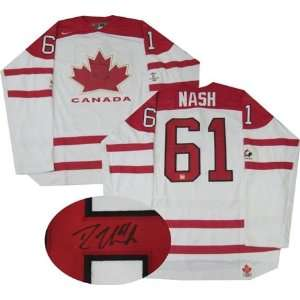 Rick Nash Autographed/Hand Signed Jersey Team Canada