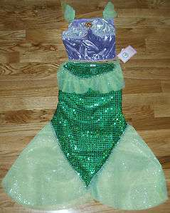 NWT DISNEY WORLD Princess ARIEL Little Mermaid 2PC Fancy Dress