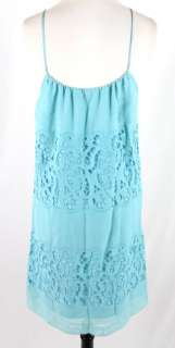 PRETTY New BCBG MAXAZRIA Blue Cutout Detailed SLEEVELESS SUMMER DRESS
