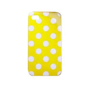 Polka Dots Yellow Soft TPU Gel Case Cover Skin for iPhone