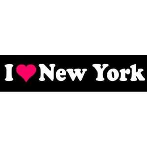 8 I Love Heart New York State Vinyl Decal Sticker