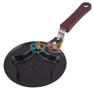 Metal Pentagram Star Shape Egg Cake Mini Non Stick Pot Fry Frying Pan