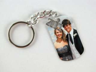PROM Keepsake Photo Dog ID Tag Necklace OR Key Chain