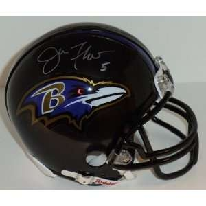 Joe Flacco Autographed/Hand Signed Baltimore Ravens Mini