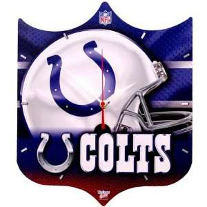 Indianapolis Colts   Helmet Plaque Clock NFL Pro Football