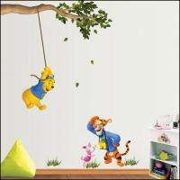 Pooh Easy Instant Nursery Wall Sticker Decal DS390