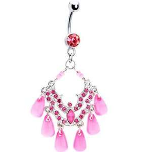 Pink Sea Plethora Chandelier Belly Ring Jewelry