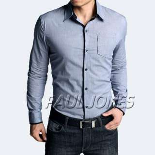 Unique Design~ Mens slim fit luxury cotton Casual/Dress shirt best