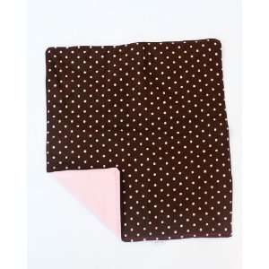 Cydnee Designs Brown and Pink Polka Dot Changing Pad Baby