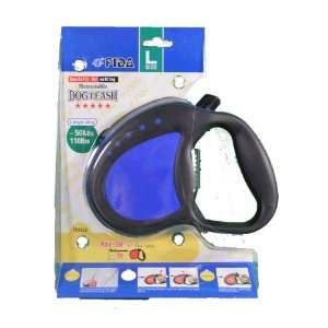 FIDA Blue Retractable Dog Leash Large up to 110 lbs Pet