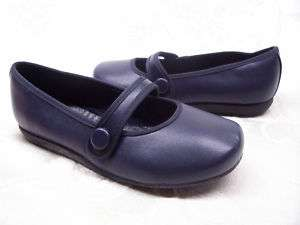 First Kiss JODI Youth size Mary Jane NAVY Shoes Flats