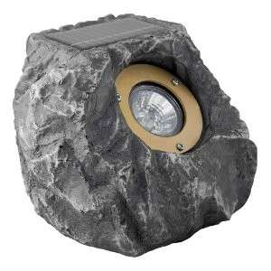 OUTDOOR LANDSCAPE ROCK GARDEN SOLAR LED FLOOD LIGHT