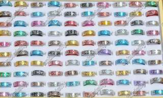 Wholesale jewelry Lots 800pcs 8tone Aluminum rings High Quality free
