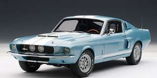 18 Ford Shelby Mustang GT500 1967 Blue White Autoart Diecast Car