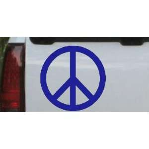 Blue 20in X 20.0in    Peace Sign Symbol Car Window Wall Laptop Decal