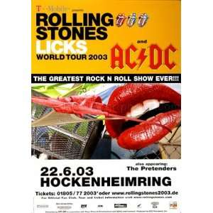 The Rolling Stones Licks 2003   CONCERT POSTER from