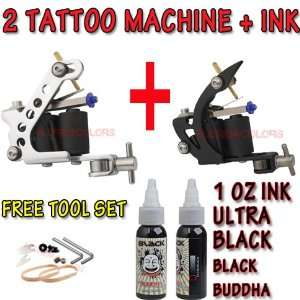 Liner Shader 2 Tattoo Machine Gun Ultra Black Ink Set kit USA Free