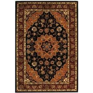 Safavieh Rugs Traditions Collection TD610B 8R Black/Burgundy 8 x 8