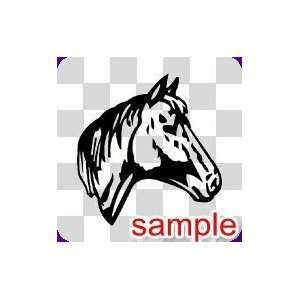 ANIMALS HORSE HEAD 10.5 WHITE VINYL DECAL STICKER