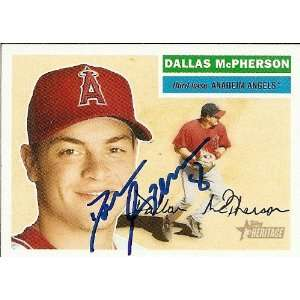 Marlins Dallas McPherson Signed 05 Topps Heritage Card