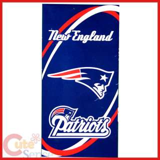 NFL New England Patriots Beach, Bath Towel 30x60 Cotton