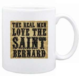 New  The Real Men Love The Saint Bernard  Mug Dog