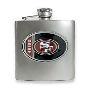 San Francisco 49ers Stainless Steel Hip Flask Jewelry