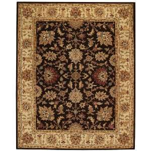 Monticello Mahal Coffee Hand Tufted Wool Area Rug 8.00 x