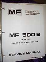 Massey Ferguson 500B Loader & Backhoe Service Manual