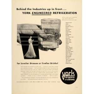 1939 Ad York Refrigeration Air Conditioning Ice Cold