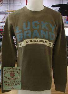 Lucky Brand Jeans L/S Mens Thermal Shirt GREEN XL NWT